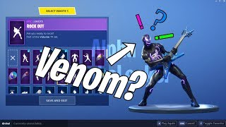 VENOM SKIN!? with DANCE EMOTES SHOWCASE! Fortnite Battle Royale