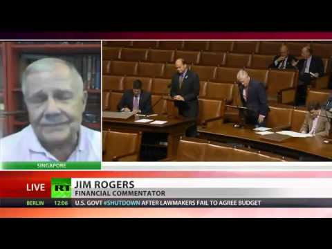 JIM ROGERS on U.S. GOVERNMENT SHUTDOWN - U.S. NOT on Brink of DEFAULT & will PRINT more MONEY