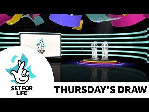 The National Lottery 'Set For Life' Draw Results From Thursday 5th December 2019
