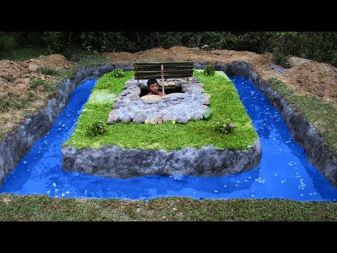 Build Swimming Pool Around Underground House - Full Video