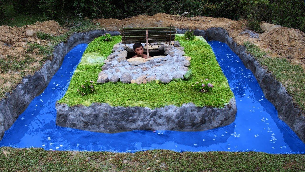 Build Swimming Pool Around Underground House - Full Video ...