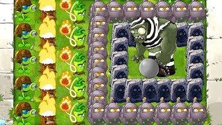 MAX LEVEL POWER-UP! vs GARGANTUAR in Prison Plants vs Zombies 0