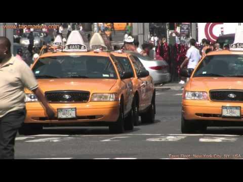 New York City Taxi Fleet 1, NY, USA Collage Video - youtube.com/tanvideo11