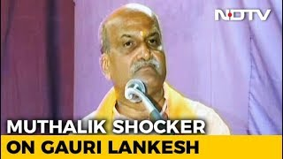 Sri Rama Sene Chief Pramod Muthalik Compares Gauri Lankesh's Murder To That Of A Dog