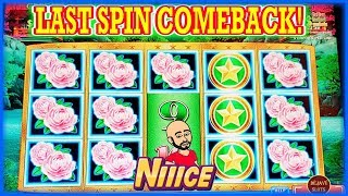 WHAT A COME BACK ON LAST SPIN ON DRAGON LAW SLOT MACHINE MAX BET BO...