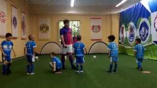 Тренировка по футболу для дошкольников FootyBall