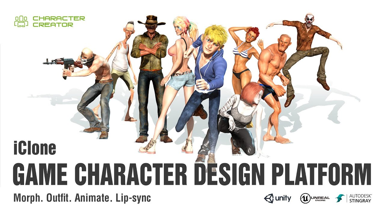 Game Design Character Classes : Iclone game character design platform youtube