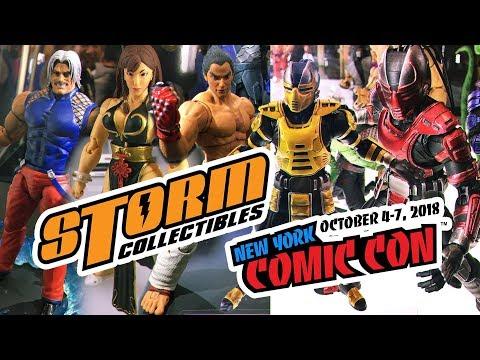 Novidades Storm Collectibles na NYCC 2018 Street Fighter, Mortal Kombat, Tekken e KoF   Booth Tour