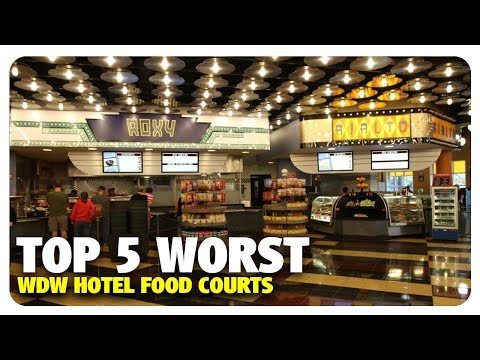 TOP 5 WORST Hotel Food Courts at Walt Disney World | Best and Worst | 11/22/17