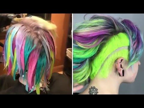 Amazing Hair Color Transformations (Rainbow Hair Colous)