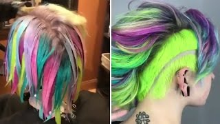 Amazing Hair Color Transformations (Rainbow Hair Colous)