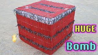 HUGE CRACKERS BOMB MADE USING 2500 SMALL BOM   DIWALI CRACKERS EXPERIMENTS   MAKING DESI CRACKERS