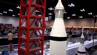 Gigantic LEGO Saturn V Apollo 8 Rocket with Motorized Platform