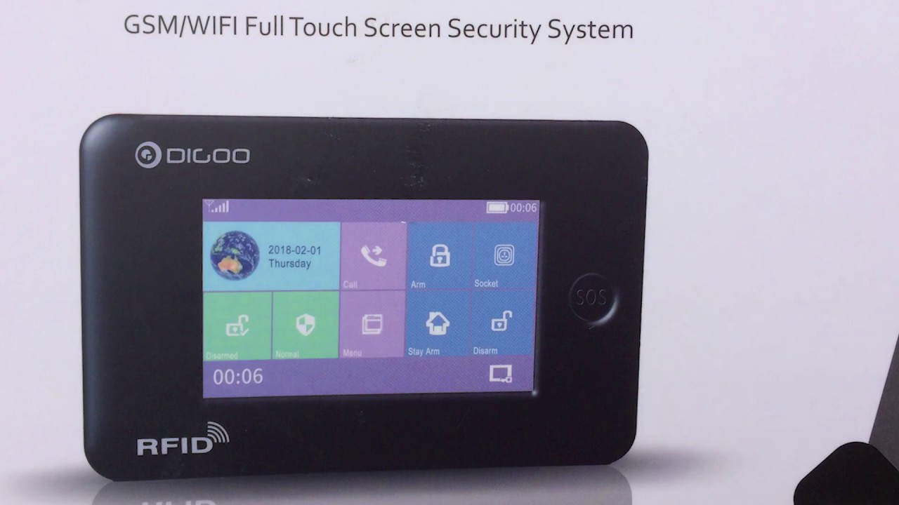 Digoo DG-HAMA GSM / WIFI Full Touch Screen Security System