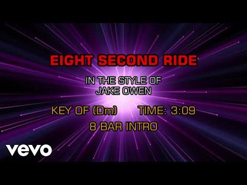 Jake Owen - Eight Second Ride (Karaoke)