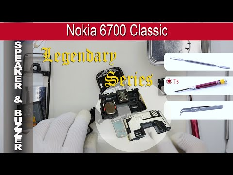 How to replace 📶 Aerial Antenna & 📢 Speaker & Buzzer Nokia 6700 Classic