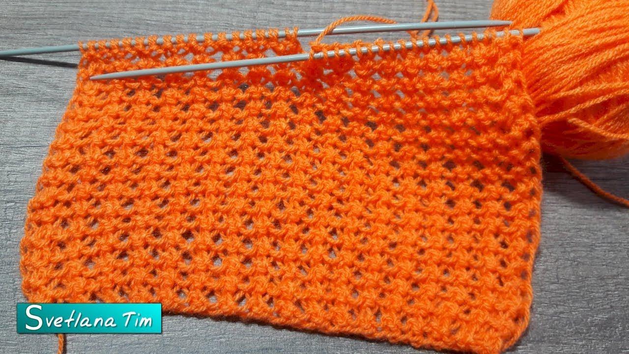 Все ажурные узоры для вязания на спицах с образцами и с полным описанием