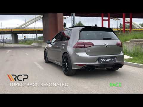 VW Golf 7 R | RCP Exhausts | Turbo Back Exhaust