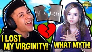 MYTHE TELLS POKIMANE HE LOST HIS VIRGINITY! Lol?! RIP V-CARD - France Fortnite SAVAGE - Moments FUNNY
