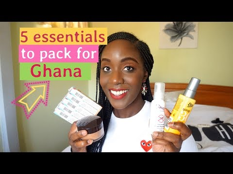 5 ESSENTIAL PRODUCTS TO PACK FOR GHANA (AFRICA) // GHANA TRAVEL GUIDE