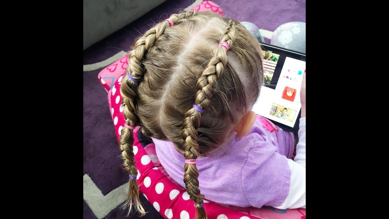 how to do a dutch braid on a toddler youtube