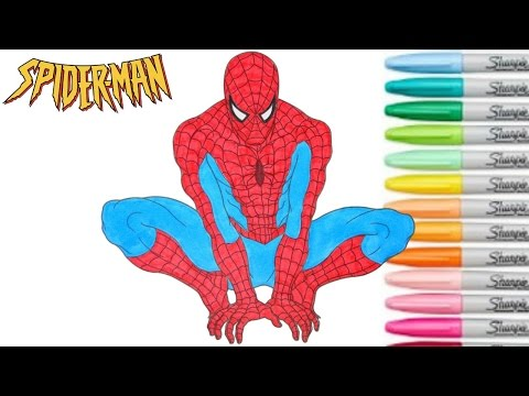 Spiderman Coloring Book Marvel Superhero Episode 3 Colouring Pages For Kids Rainbow Splash