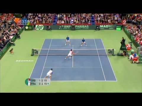[Coupe Davis 2010 - France / Serbie] Highlights : Llodra / Clément - Troïcki / Zimonjic (16:9)
