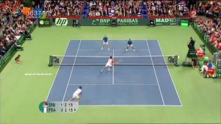 [Coupe Davis 2010 - France / Serbie] Highlights : Llodra / Clément - Troïcki / Zimonjic (16:9)