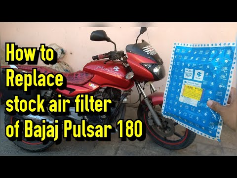 How to Replace stock air filter of Bajaj Pulsar 180