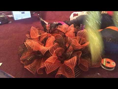 Oogie Boogie ruffle wreath
