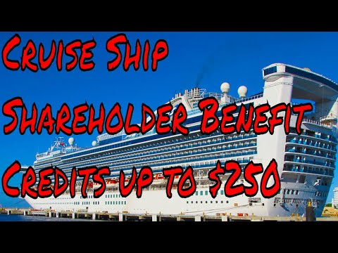 Cruise Ship Room Credits up to $250 Cruise Line Shareholder Benefit Program