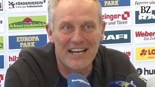 Christian Streich lächelt über Dortmunder Friseur-Aufreger