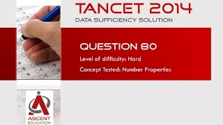 TANCET Past Papers Solution - TANCET 2014 DS - Number Theory