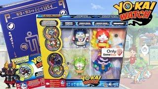 Yo-kai Watch Gamestop Exclusive Faces Of Jibanyan Figure Set & Yo-motion Medallium