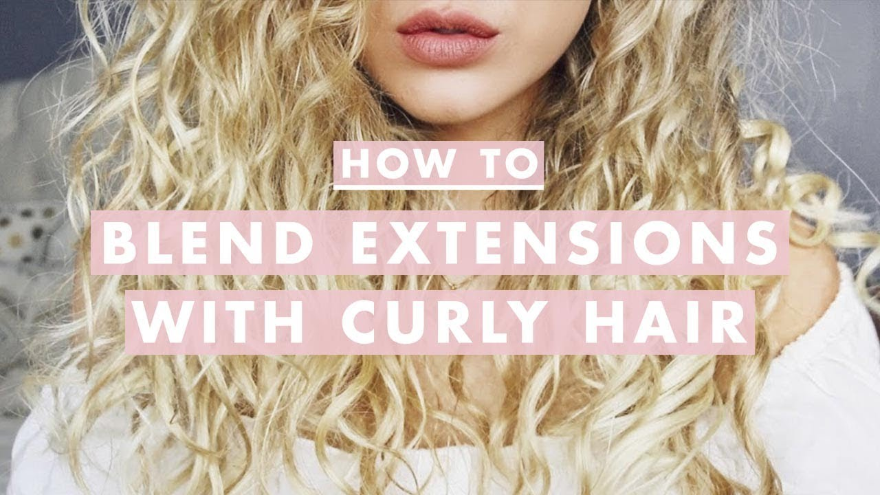 How To Blend Hair Extensions With Curly Hair Youtube
