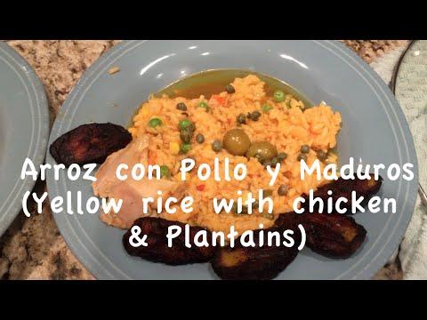Crock Pot Recipe: Arroz Con Pollo Y Maduros (chicken With Yellow Rice And Plantains)
