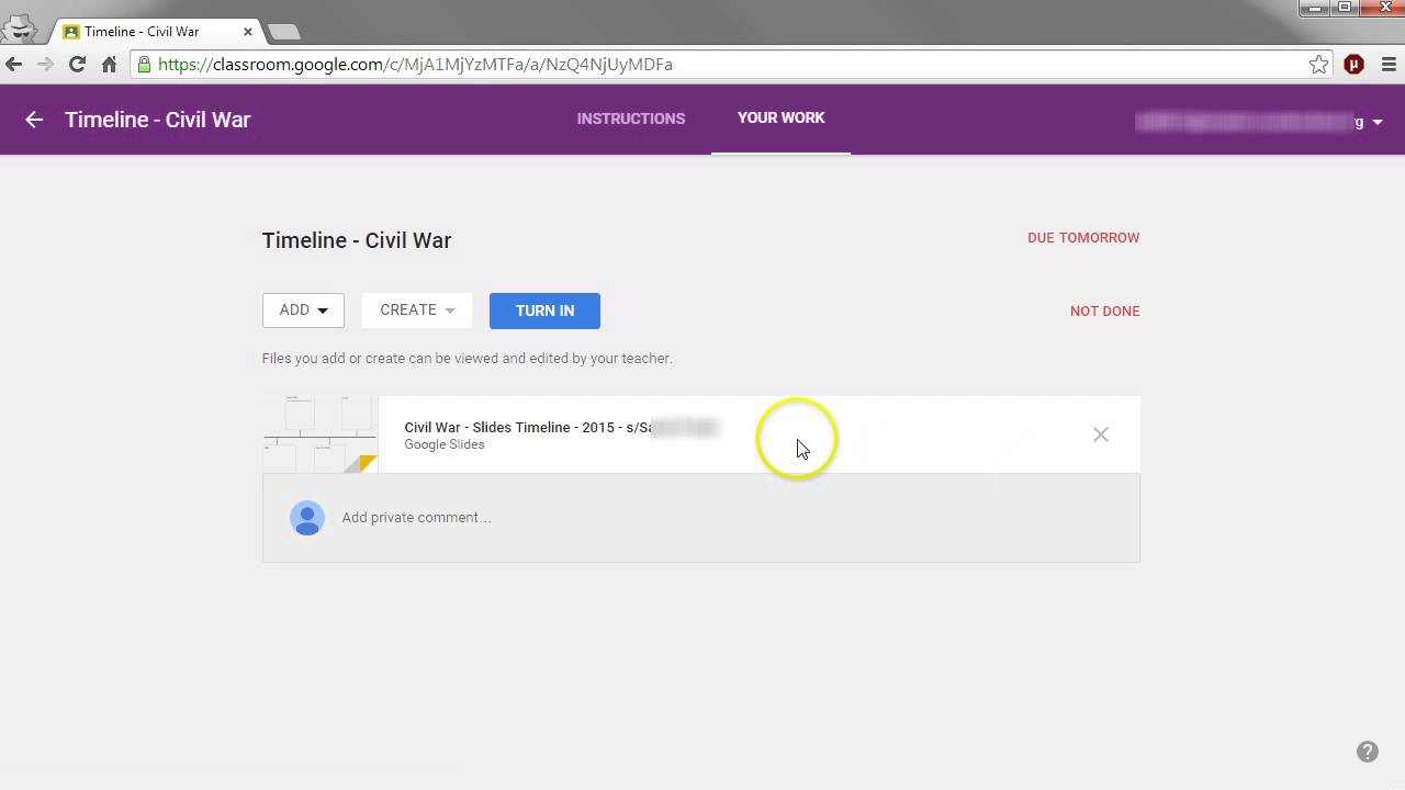 jk s google classroom tutorials lessons teach google classroom how students turn in assignments