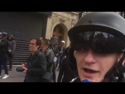 Mortar Exploding On Me: Paris France May Day