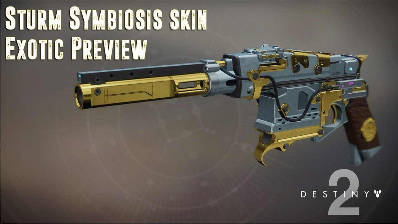 Sturm (Symbiosis Skin) Exotic Hand Cannon Preview - Destiny 2 - YouTube