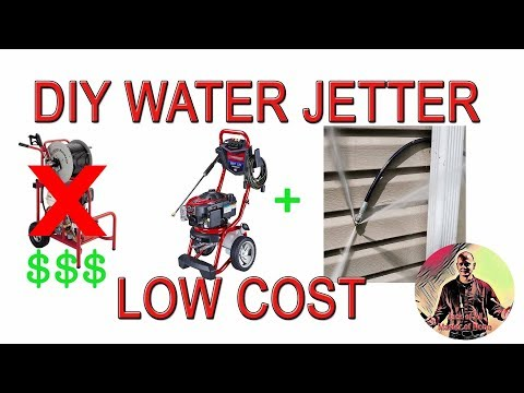 DIY Cheap Water Jetter System To Unclog Pipes - How To Hydro Jet
