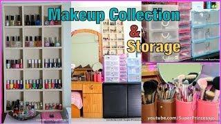 My Updated Makeup Collection Storage  | SuperPrincessjo