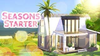 SEASONS STARTER HOUSE- UNDER 20k!   Sims 4 Speed Build