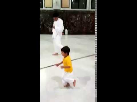 Little Arhaan enjoying tawaf around Khana kaaba Makkah sharif !!!