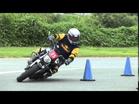 2015 7 19 Dunlop Moto Gymkhana King of Gymkhana Sakuta 選手 MT-07 heat 2