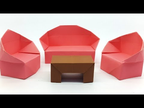 How to make a Paper Table easy - Origami Table making instruction