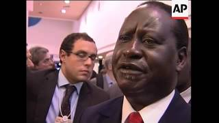 Cholera sufferers in Zim, Kenya PM comment at WEF