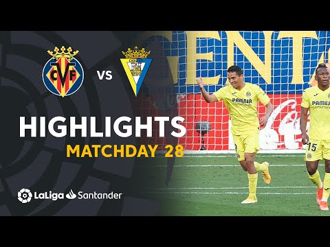Villarreal Cadiz Goals And Highlights