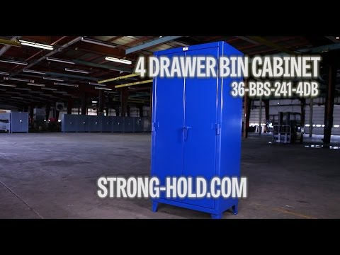 Strong Hold Products Industrial 4 Drawer Bin Cabinet (36-BBS-241-4DB)