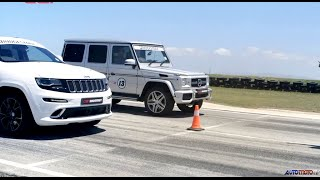 DRAG RACE: Jeep Grand Cherokee SRT8 vs. Mercedes-Benz G63 AMG Video