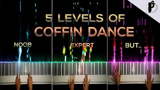 5 Levels Of Coffin Dance   NOOB to EXPERT BUT...